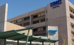 Daytime exterior view of the main buildings at the University Medical Center of Southern Nevada