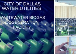 Screenshot from video showing pump equipment, storage tanks, generators and an automated energy control at City of Dallas Water Utilities facilities
