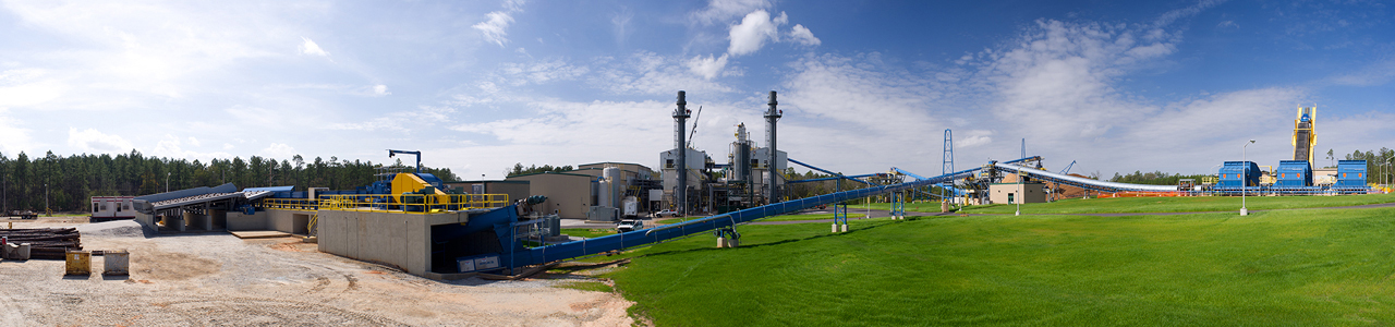 Daytime panoramic view of the Department of Energy Savannah River Site Biomass Cogeneration Facility