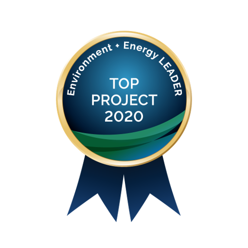 Environment + Energy LEADER Top Project 2020 badge
