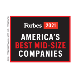 Forbes 2021 America's Best Mid-Size Companies Logo